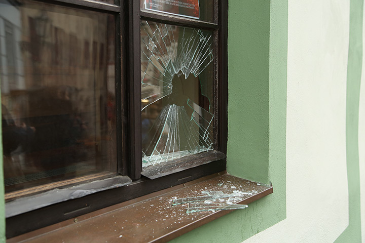 A2B Glass are able to board up broken windows while they are being repaired in Norwood.